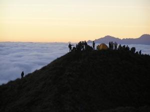 Apus Peru Trekkers at Tres Cruces for Sunrise