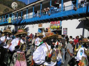 Costumed Virgen de Carmen Dancers