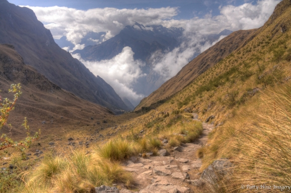 Views from Abra Warmihuañusca (Dead Woman's Pass – 4200m/13776ft) the high point of the Inca Trail. Photo courtesy of Patty Hinz