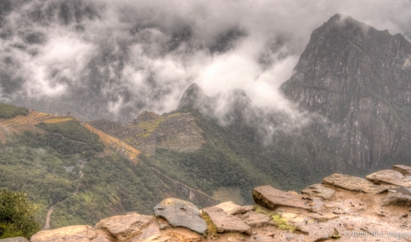 Tantalising, mysterious views of Machu Picchu, from the Sungate. Photo courtesy of Patty Hinz.