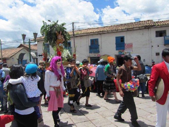 San Sebastian, carried through the streets.