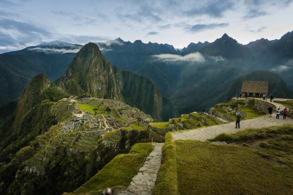We see many photographs of Mach Picchu, this one has a slightly different perspective.  Photo by Isaiah Brookshire.