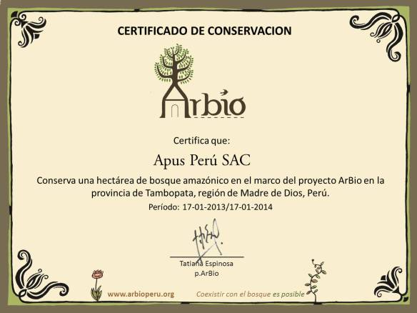 arbio_ApusPeru certificado