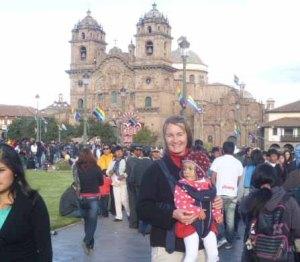 Ariana Svenson enjoying Corpus Christi with her daughter.