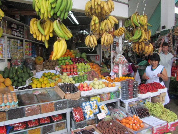 Colourful scene from Lima Market