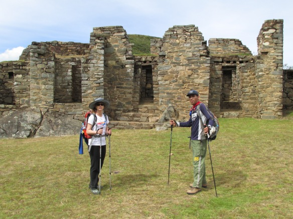 Jose explains some of the finer points of the Choquequirao site.