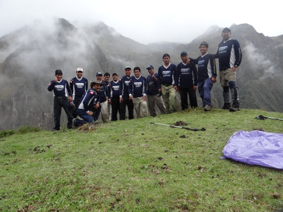 Apus Peru specialises in unique Lares routes, here are the Apus Peru guides during an exploratory trip in early 2013.