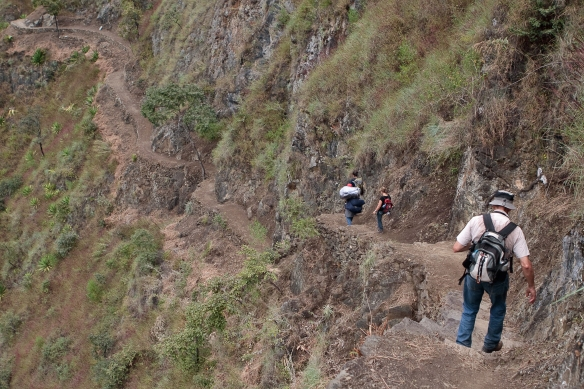 Steep paths are a feature of the adventure lover's Inca Jungle Trail. Photo courtesy Barry van Eyk.
