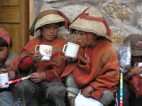 Hot Chocolate time at our Andean Community Christmas Chocolatada