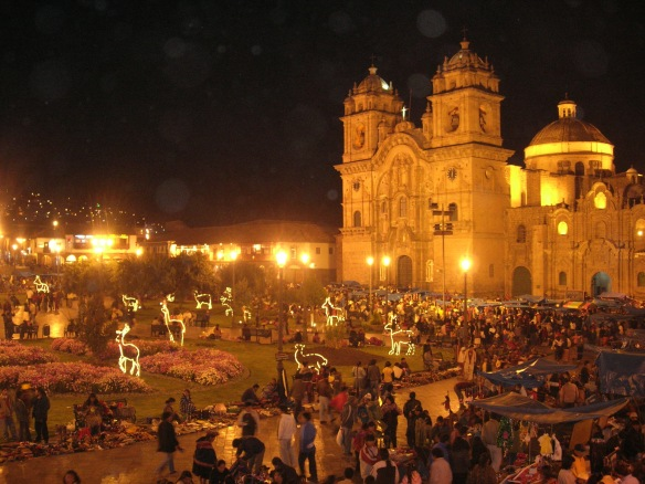 Bustling Christmas Markets in the Plaza de Armas