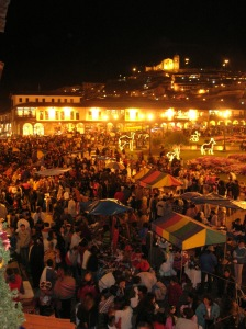 Selling of the Saints a typical Cusqueño Yuletide festivity