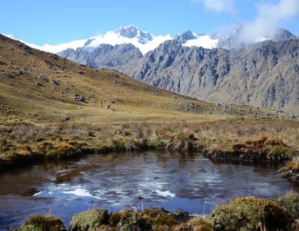 Andes' Alpine pond