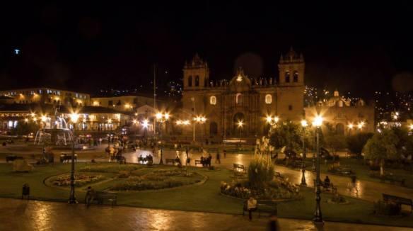Plaza de Armas, ready for the evening throng. Thanks to Megan Gaston