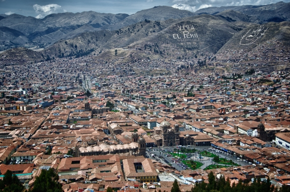 Thanks to Micheal Mosspop for this fabulous view over Cusco