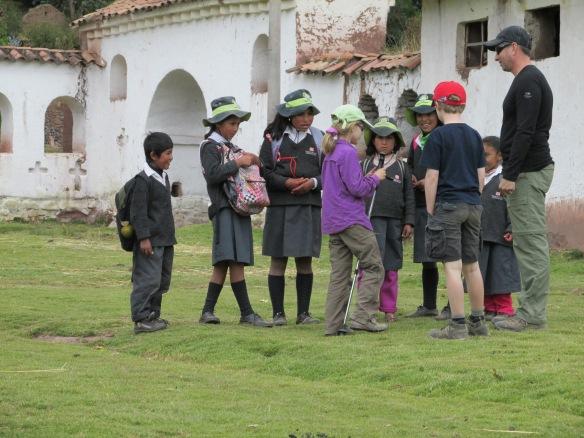 Local children during the trek
