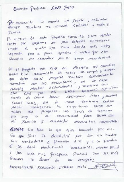 Fernando letter
