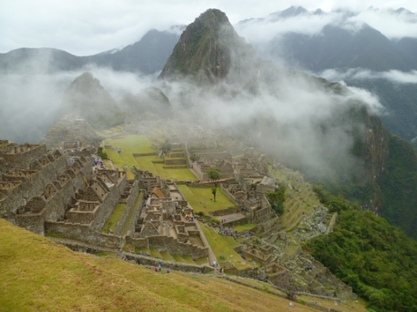 misty machu picchu, wet season travel to peru